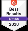 G2 Badge - Best Results Spring 2020