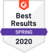 G2 Badge: Best Results Spring 2020