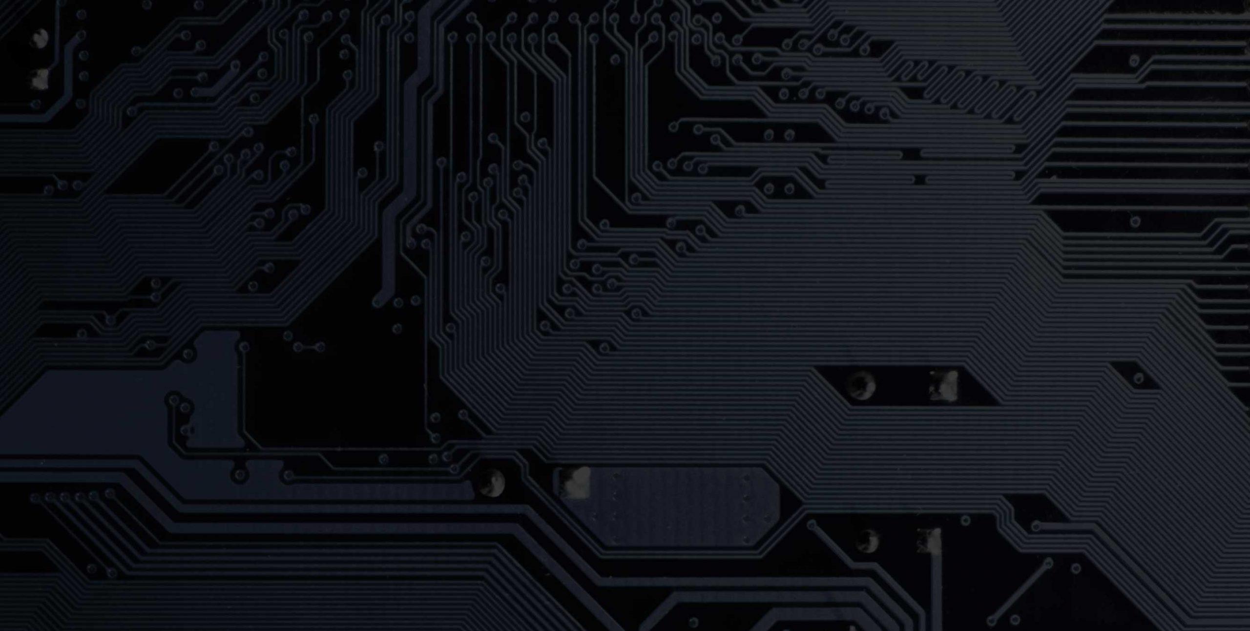 dark image of a circuit board
