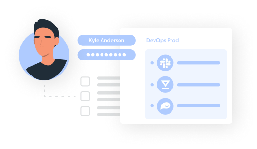 illustration of jumpcloud user and permissions