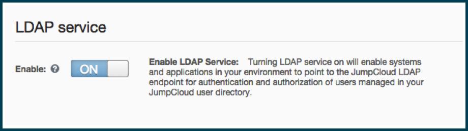 LDAP Service ON