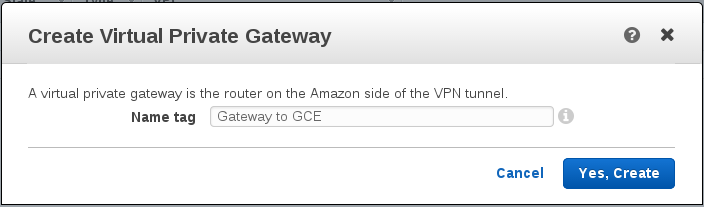 Create Virtual Private Gateway