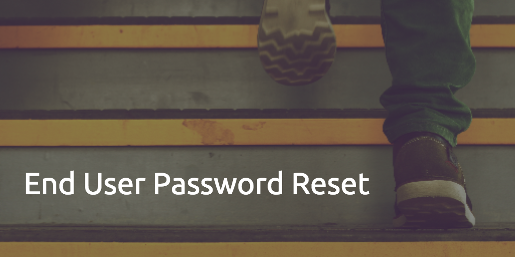 end user password reset