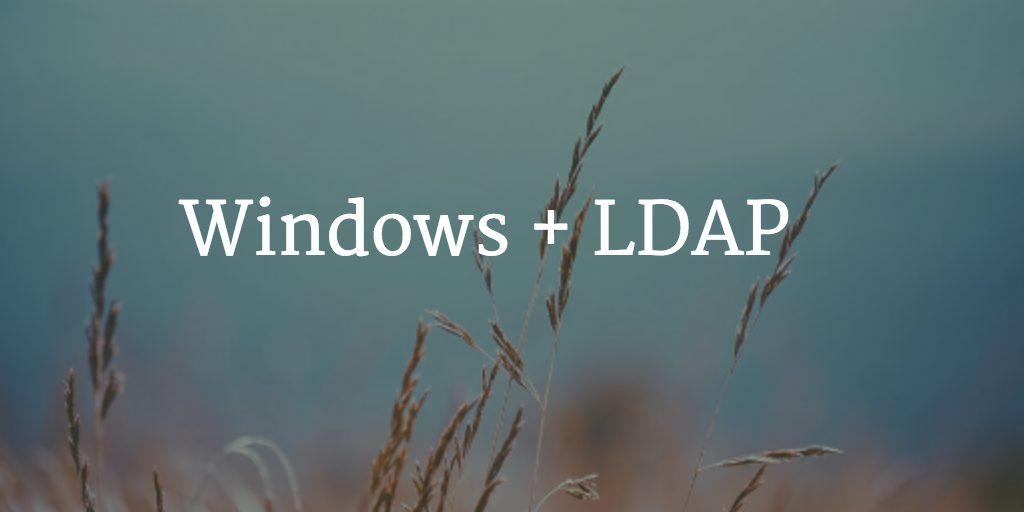 Windows LDAP