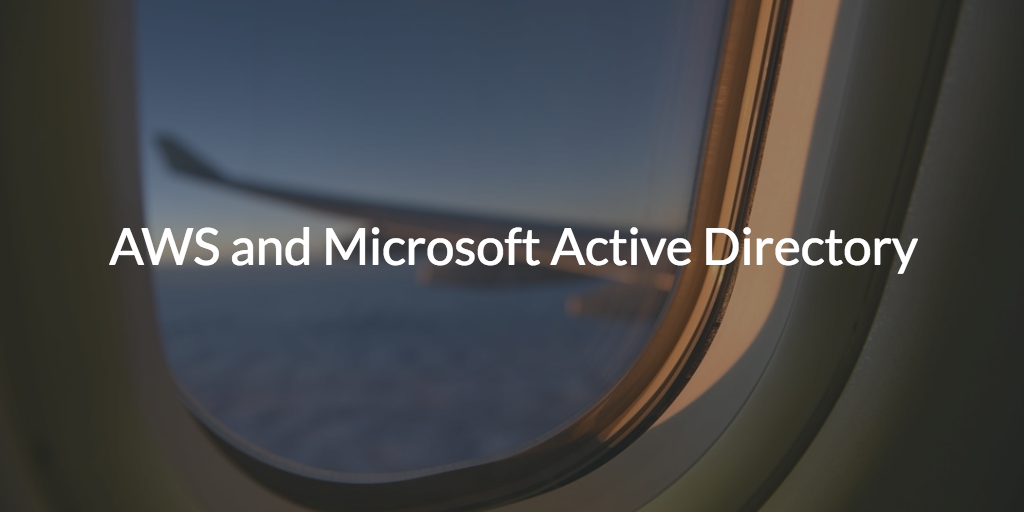 amazon web services aws and active directory ad