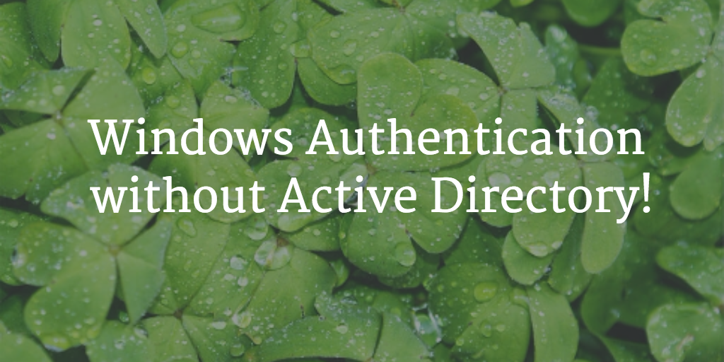 authorize windows without active directory