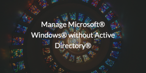 Manage Microsoft® Windows® without Active Directory®