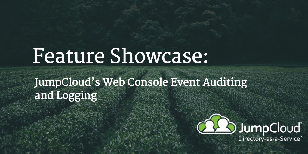 event auditing and logging
