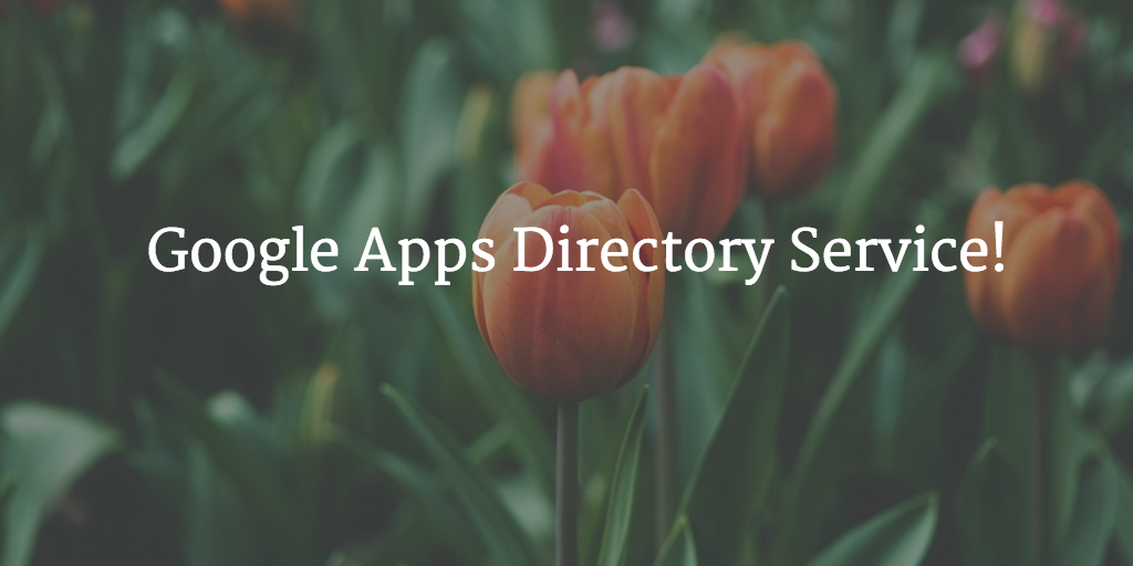 google apps directory service