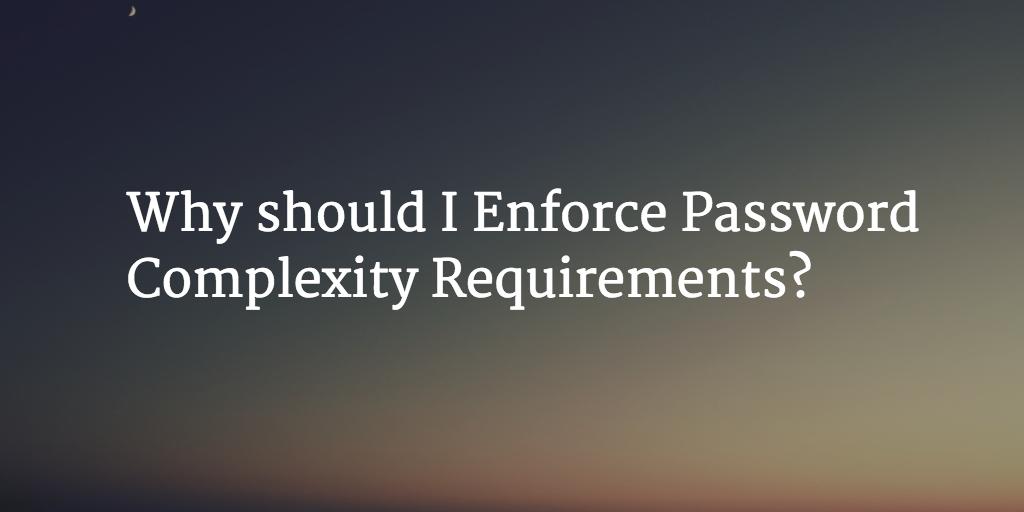 password complexity