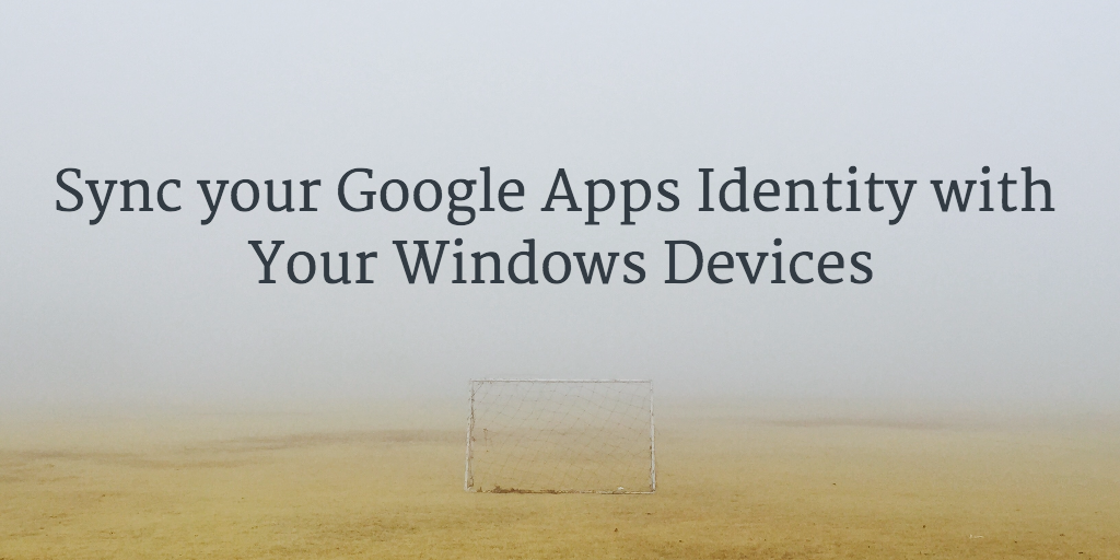 sync google apps and windows