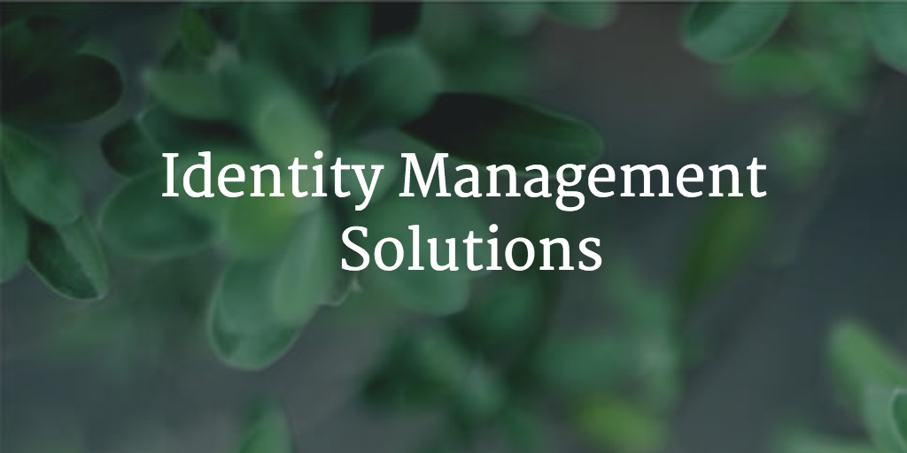 identity management solutions