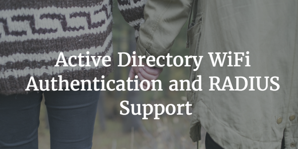 active directory wifi authentication radius support