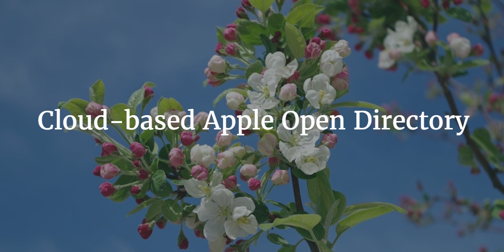 Cloud-based Apple Open Directory