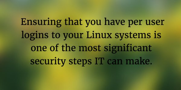 Per User Log Ins to Linux