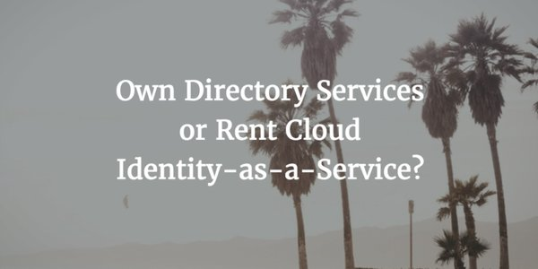 own or rent identity as a service