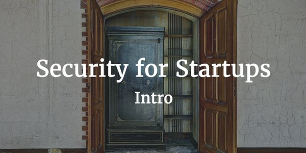security for start ups intro