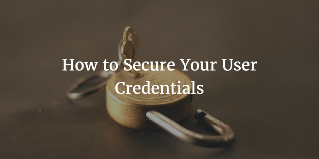 how to secure creds