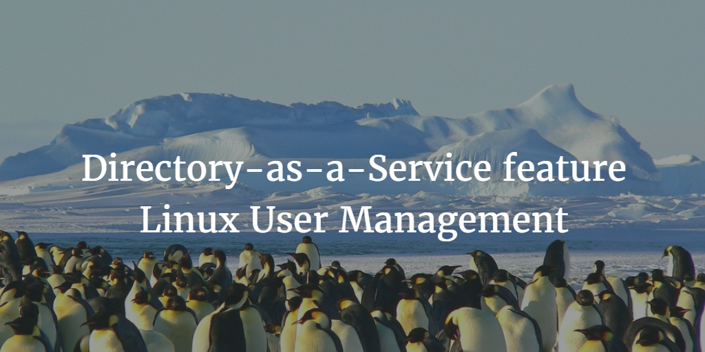 Directory-as-a-Service feature Linux User Management