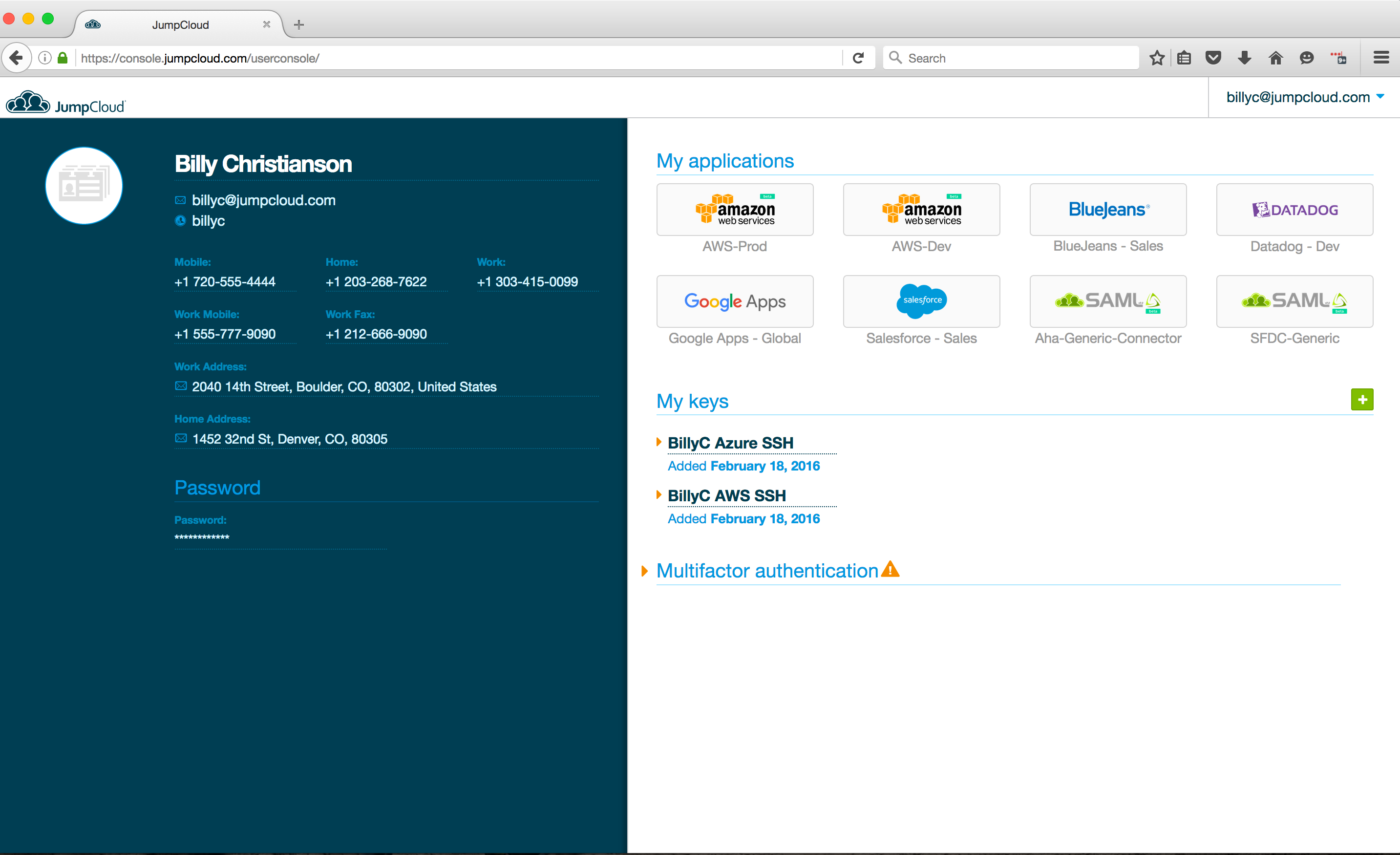 Product Update: OS X Keychain Support and SAML   JumpCloud