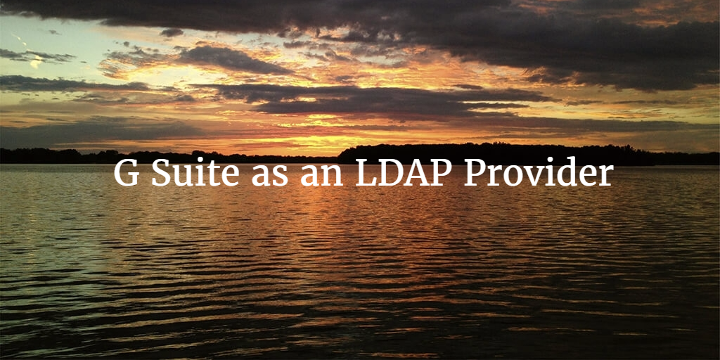 g suite as an ldap provider