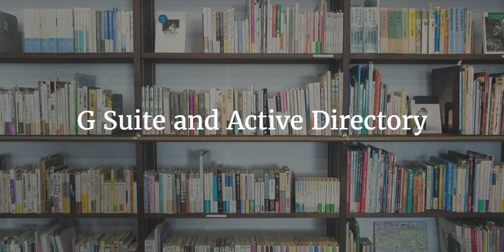 G Suite and Active Directory