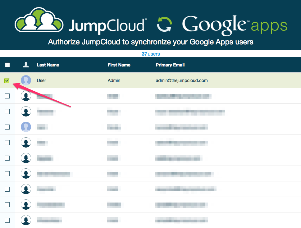 jumpcloud google sync