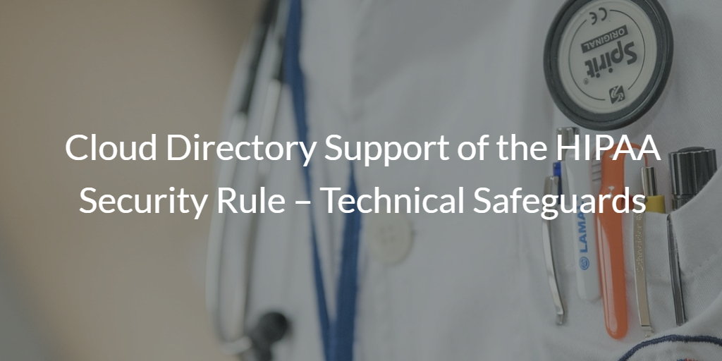 Cloud Directory of the HIPAA Security Rule