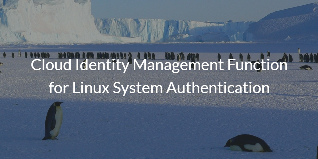 Linux System Authentication Cloud IAM