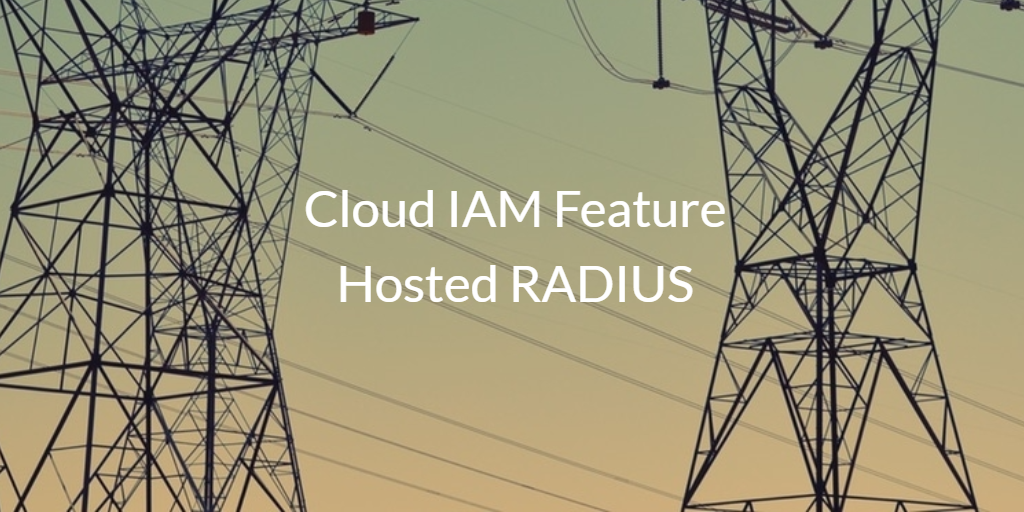 Cloud IAM Feature Hosted RADIUS