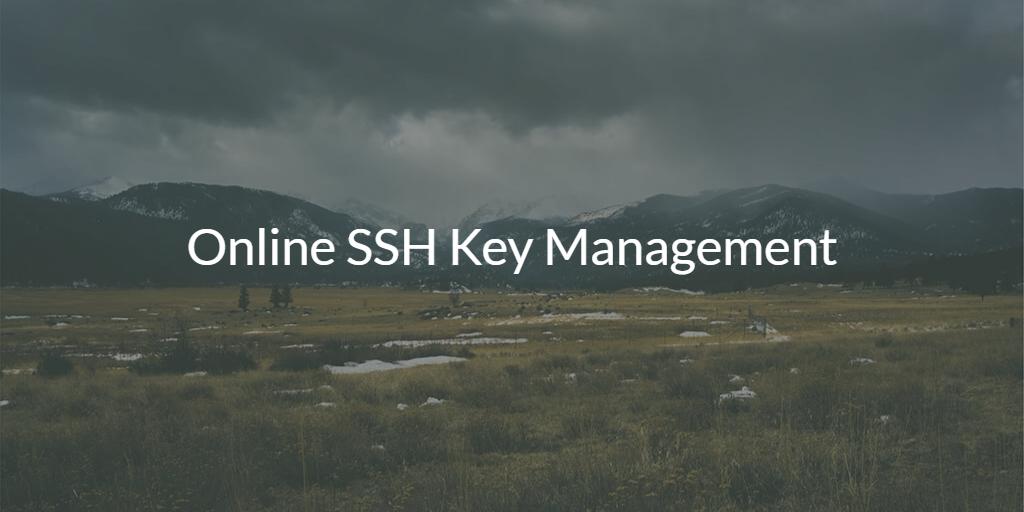 Online SSH Key Management