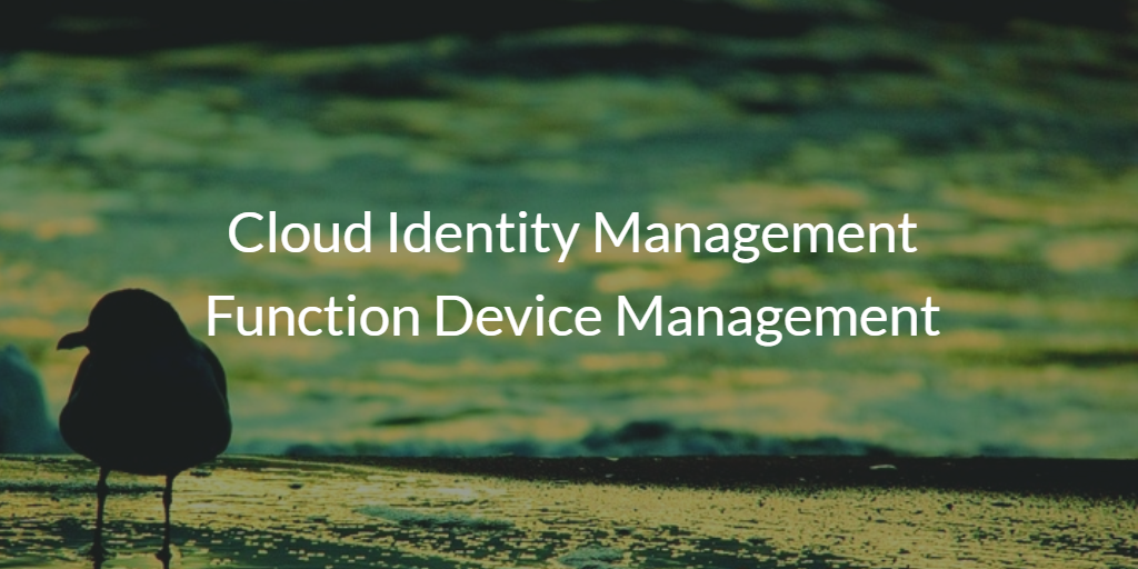 Cloud Identity Management Function Device Management
