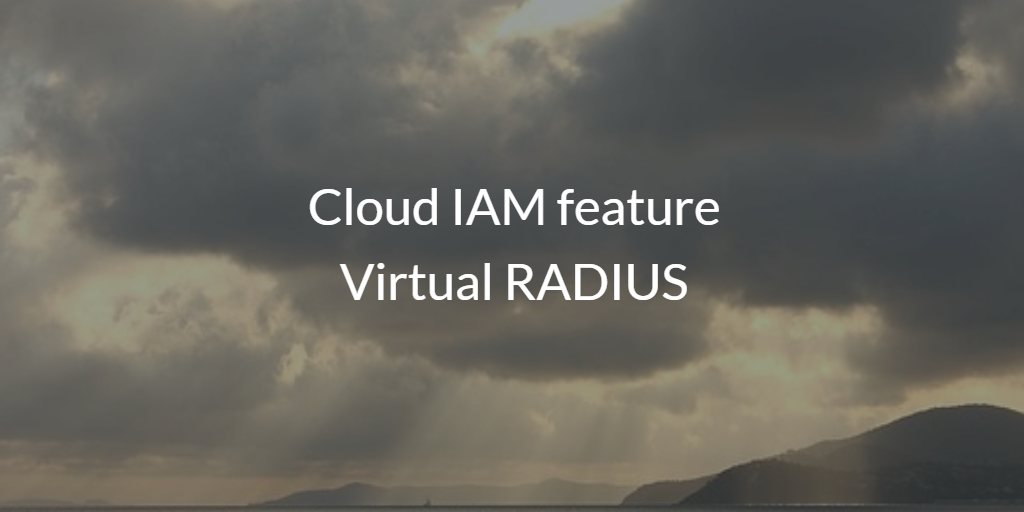 Cloud IAM feature Virtual RADIUS