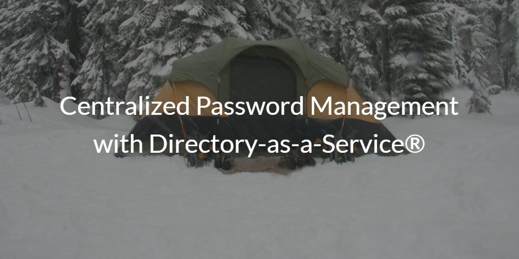 Centralized Password Management