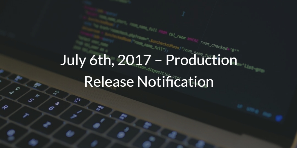 Product Release Notification