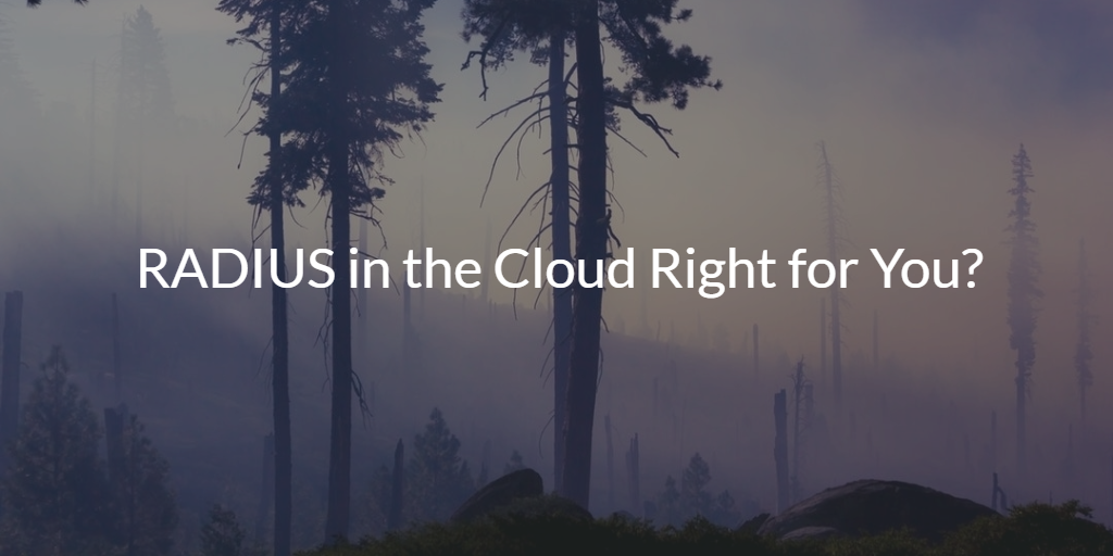RADIUS in the Cloud Right for You?
