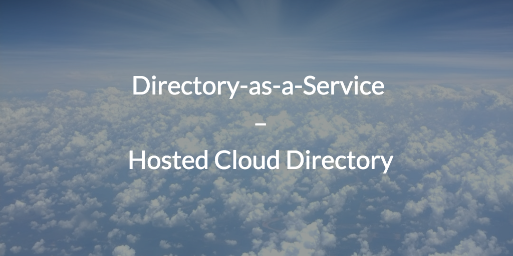 directory-as-a-service hosted cloud directory