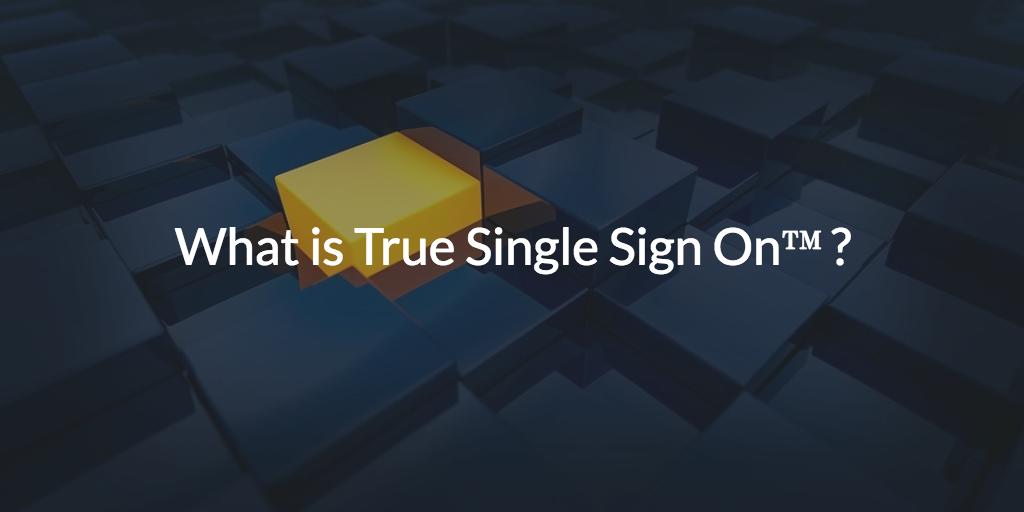 true single sign-on sso