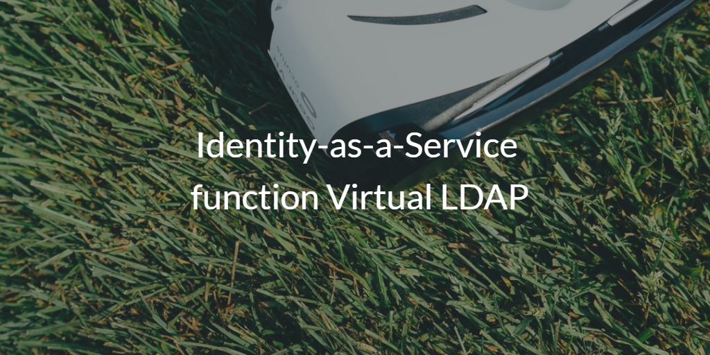 Identity-as-a-Service function Virtual LDAP