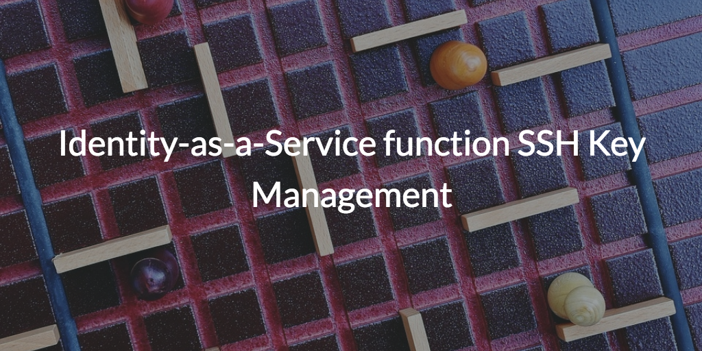 idaas function ssh key management