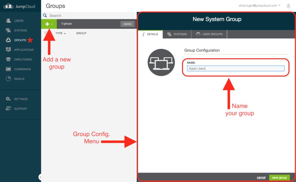 JumpCloud QuickStart Guide - Groups