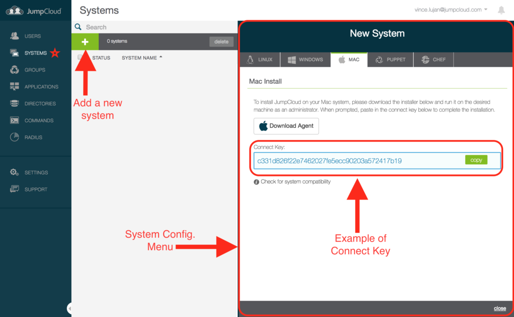 JumpCloud QuickStart Guide - Systems