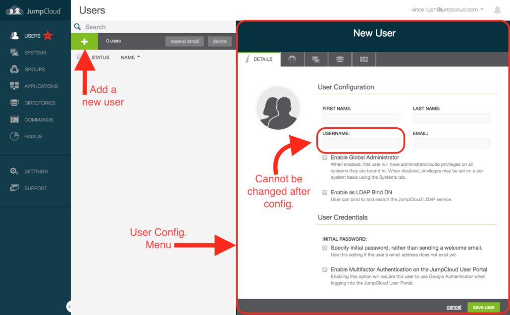 JumpCloud QuickStart Guide - Users
