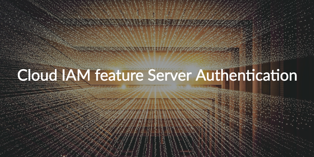 cloud iam server authentication