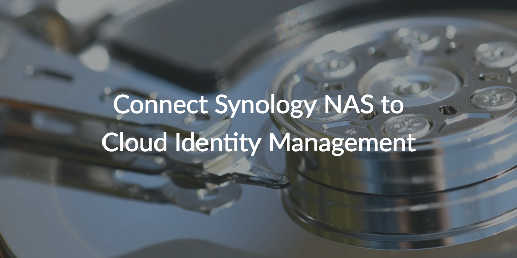 synology NAS cloud identity management