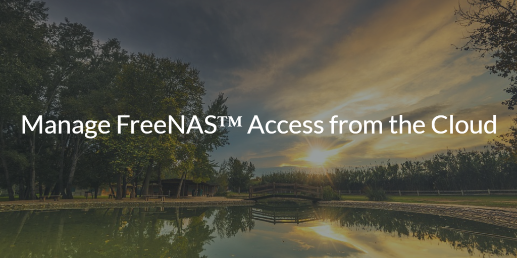 Manage FreeNAS™ Access from the Cloud