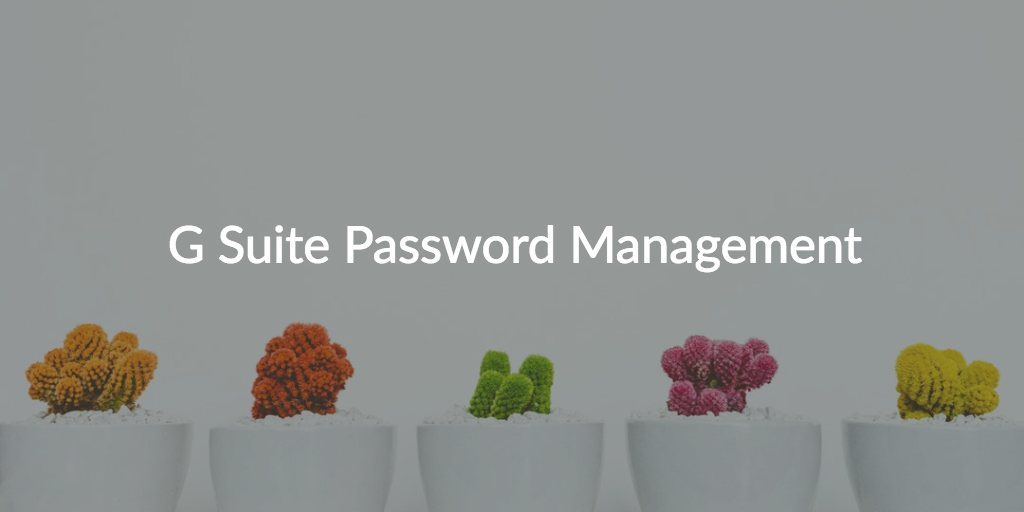 G Suite Password Management