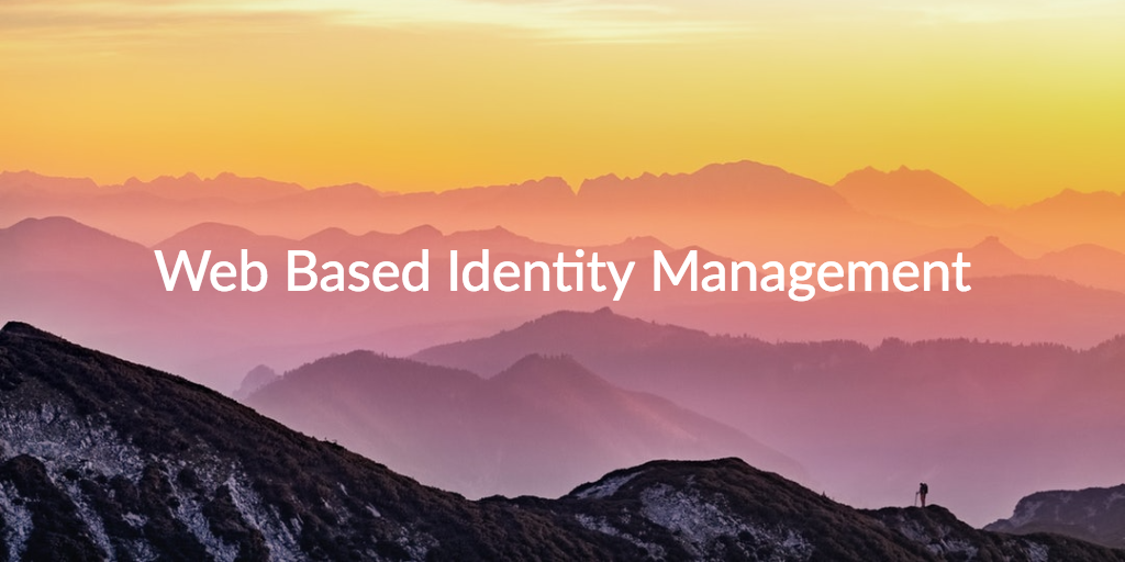 web based identity management