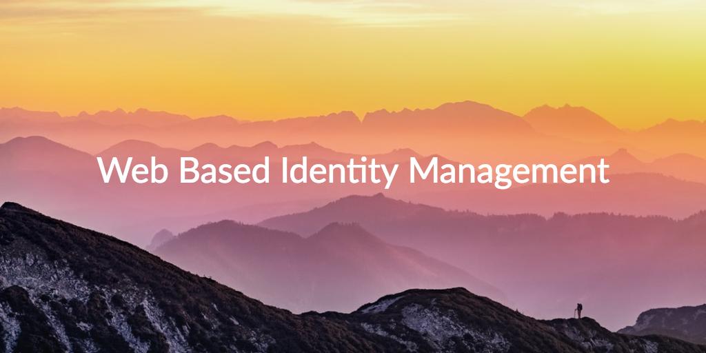 web based identity management
