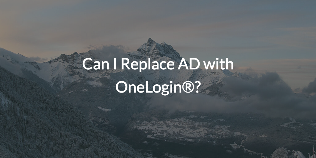 replace AD with OneLogin